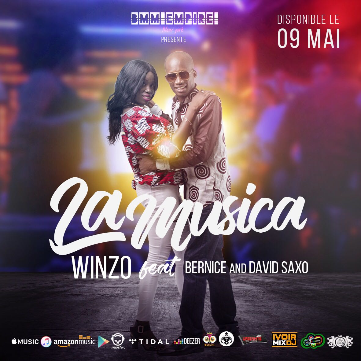 Winzo feat Bernice & David Saxo sortie officielle 09 mai